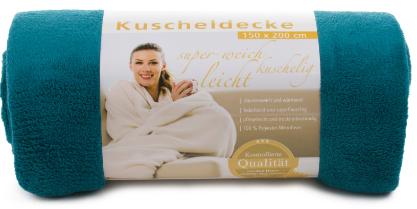 Kuscheldecken Light 150x200 petrol