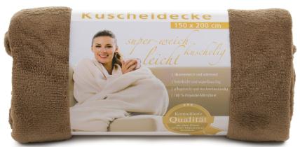 Kuscheldecken Light 150x200 taupe