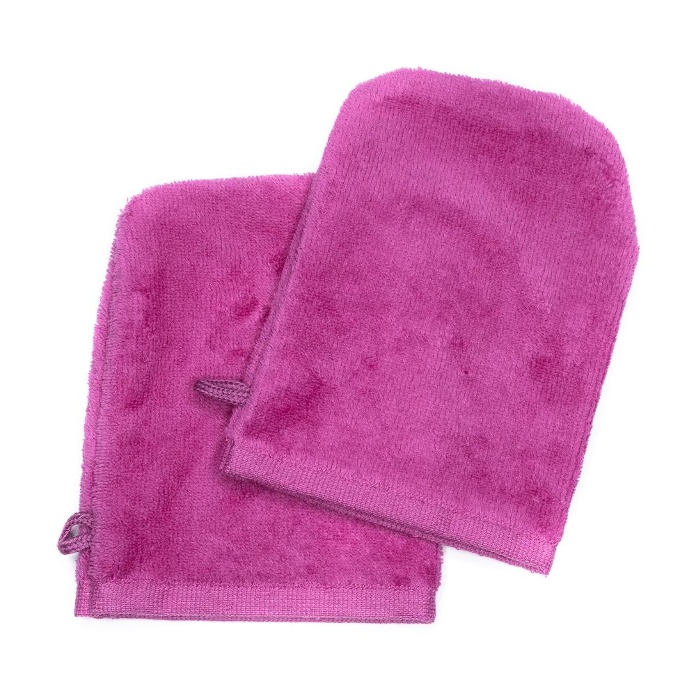 Waschhandschuhe 14x21 pink (2er-Set)