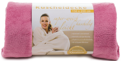 Kuscheldecken Light 150x200 altrosa